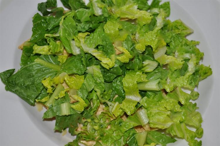 Нарезаные листья салата