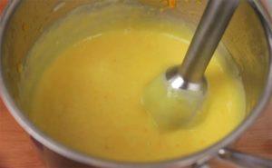 Измельчение миксером суп
