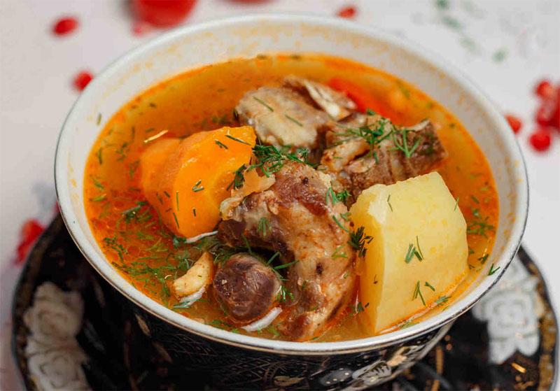 Суп Шурпа с мясом