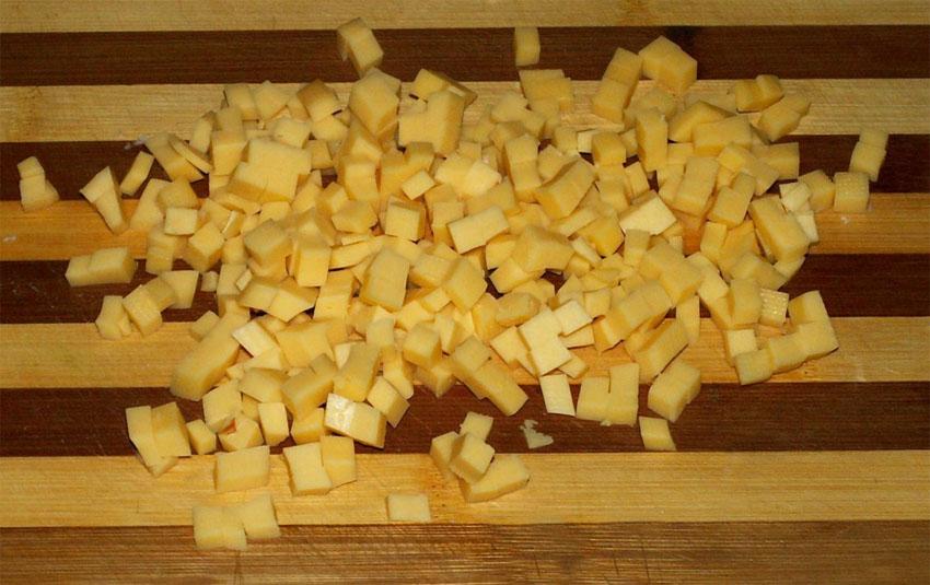 Картофель нарезанный